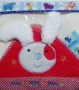 پتو فوتر عروسکی ماما پاپا طرح خرگوش ۱